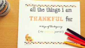 Show Gratitude all month in November. Teach being thankful for 30 days of Thanksgiving with our printable thankful journal.