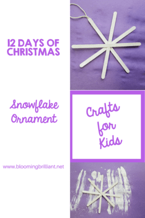 Crafts for Kids- Christmas Crafts- Snowflake Ornament craft. Looking for a fun craft this winter season for your kids? This snowflake ornament craft is adorable and fun and it super easy.