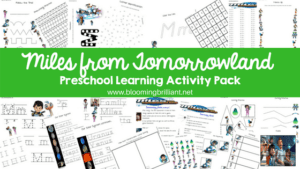 Miles from tomorrowland Preschool Learning Activity Pack