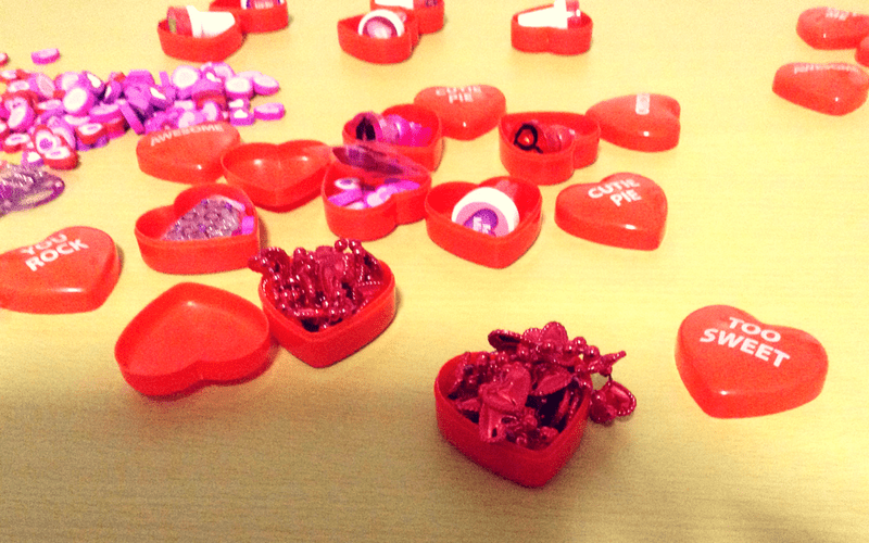 Special treats for inside the DIY Chocolate Surprise Hearts