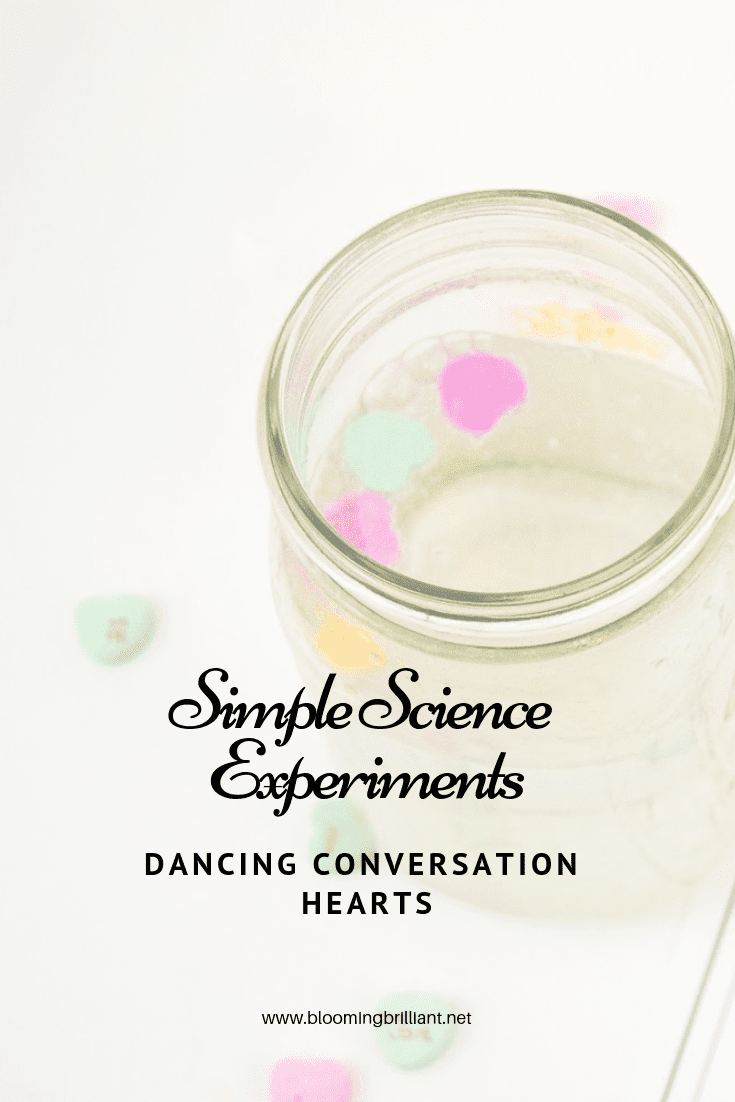 Explore density with this simple and fun, Dancing Conversation Hearts science experiment, perfect for Valentine's season.