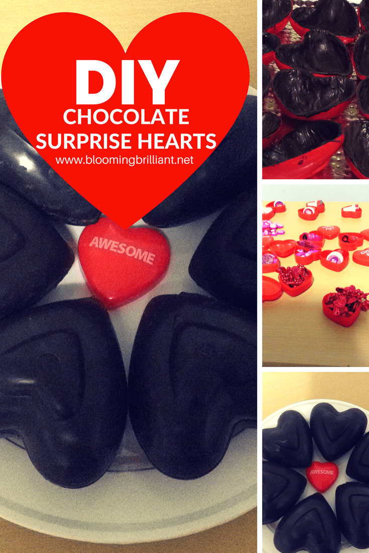 DIY Chocolate Surprise Hearts are great to make for or with your children. Perfect for Valentine's Day.