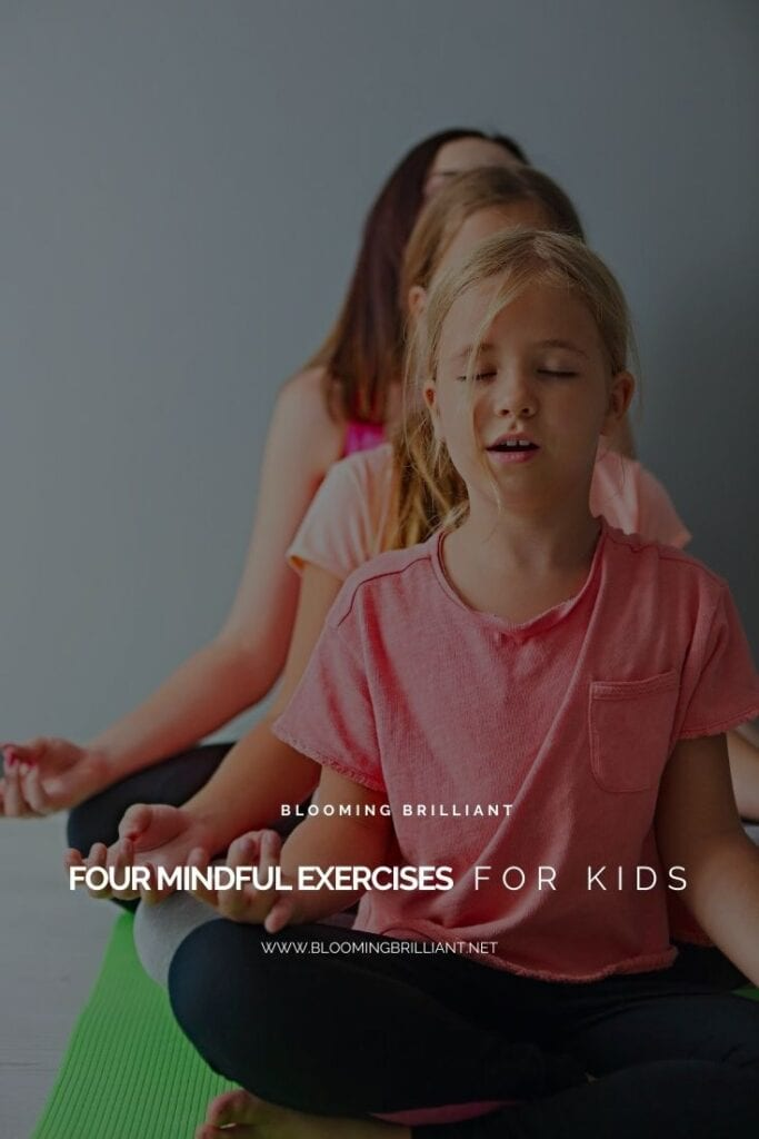 Pinterest Pin 4 Mindful Exercises For Kids