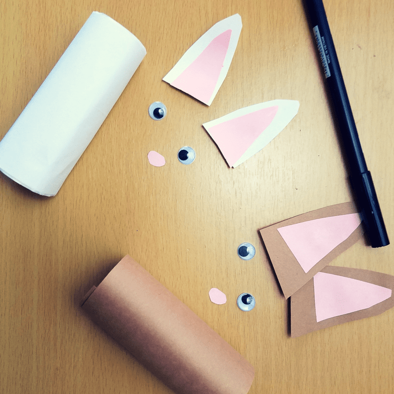 Paper Tube Easter Bunnies Craft