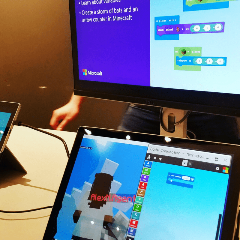 Microsoft STEM Camp Minecraft Coding