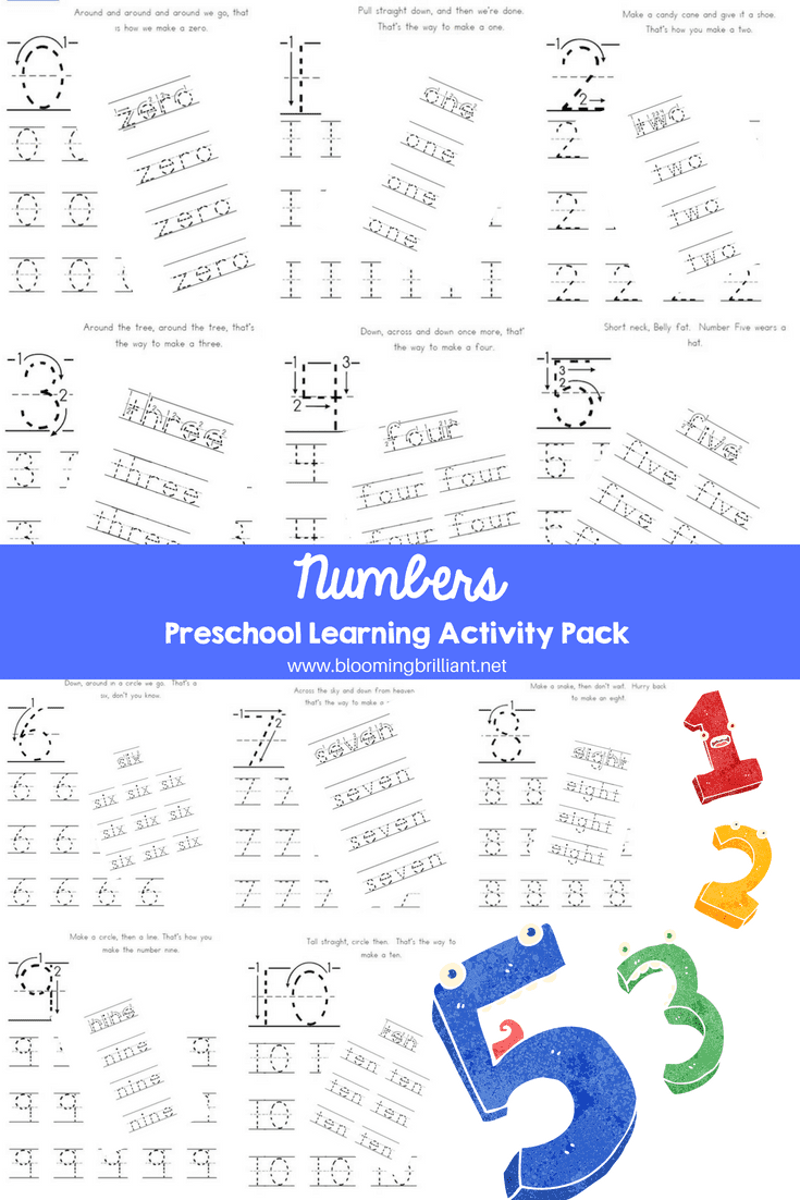 Numbers Preschool Learning Activity Kit