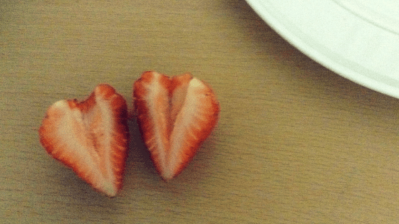 Strawberry hulled and cut in half DIY Chocolate Covered Strawberry Hearts