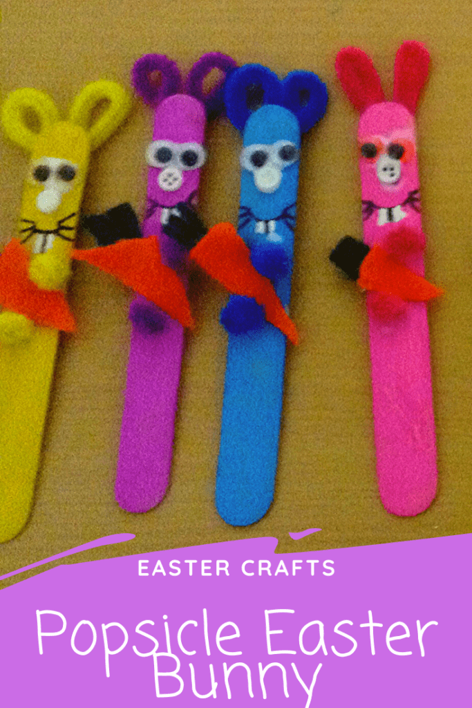 Pinterest Pin Popsicle Easter Bunny Craft