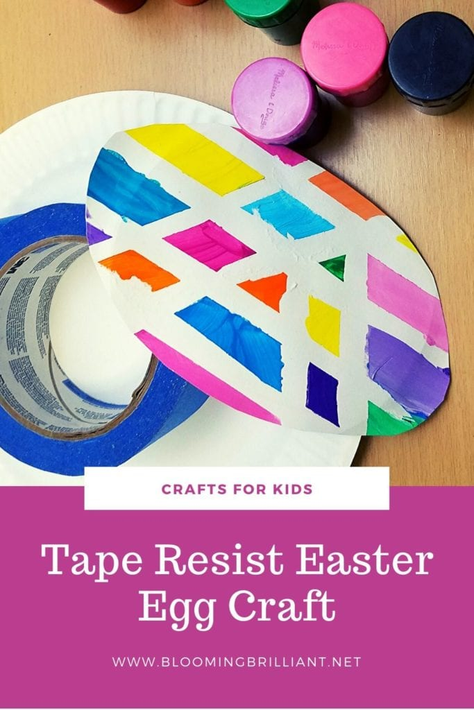 Pinterest Pin Tape Resist Easter Egg Craft