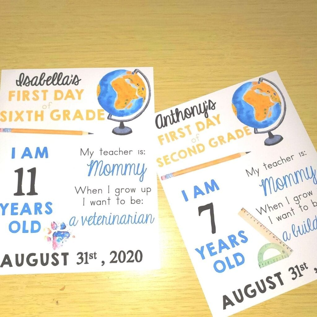 Back to Homeschool Signs