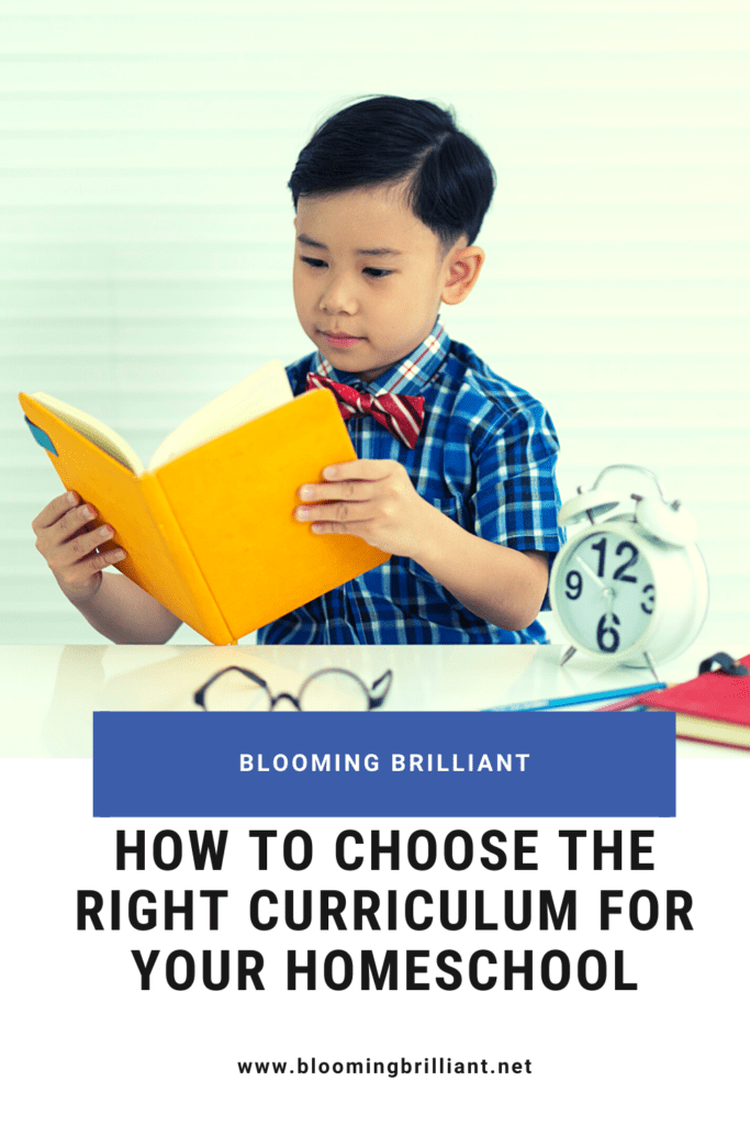 Pinterest Pin How to Choose the Right Curriculum for Your Homeschool