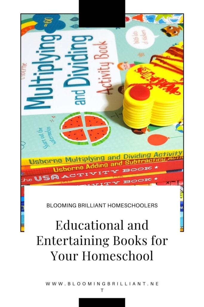 Pinterest Pin Entertaining and Educational Books For Your Homeschool